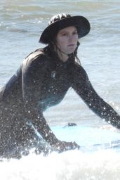 Leighton Meester - Hits the Waves in Malibu 02/20/2021