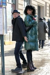 """Lilly Ball - """"Only Murders in the Building"""" Filming Set in New York 02/21/2021"""