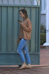 Lily Collins - Out in Beverly Hills 02/04/2021