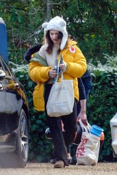 Lily James - Out in Suffolk 02/11/2021