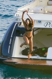 Liz Cambage on a Yacht in St.Barts 02/02/2021