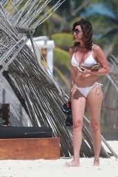 Luann de Lesseps in a White Bikini in Tulum 02/25/2021