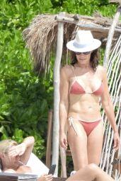 Luann de Lesseps on the Beach in Tulum 02/23/2021