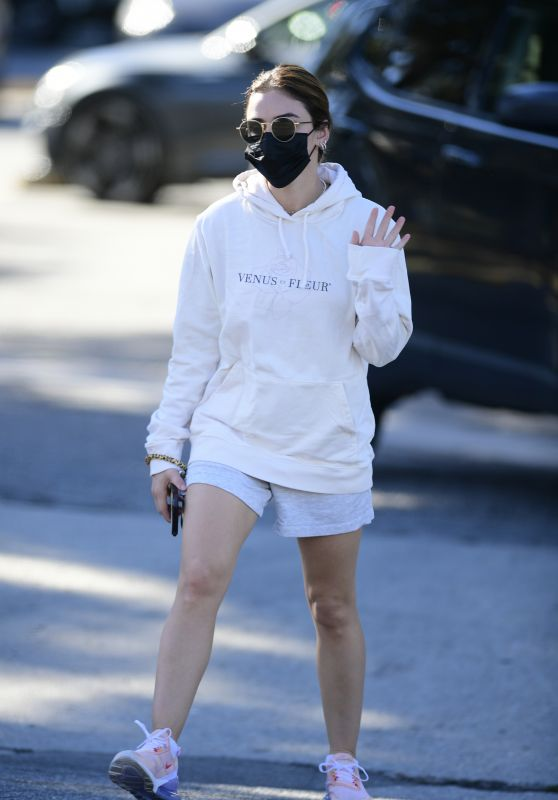 Lucy Hale at Alfreds Cafe in Studio City 02/05/2021