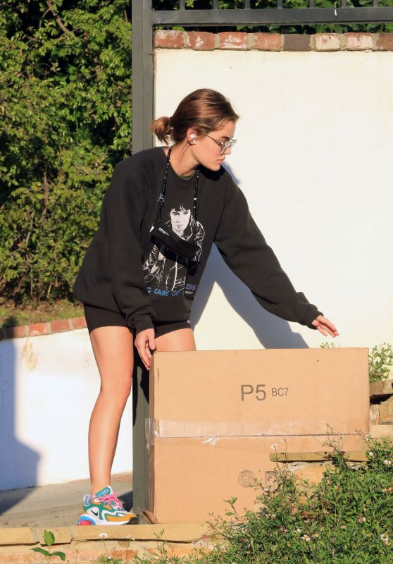 Lucy Hale - Gets Some Packages at Her Home in LA 02/24/2021