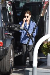 Lucy Hale - Getting Gas in Studio City 02/10/2021