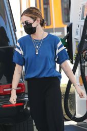 Lucy Hale - Getting Gas in Studio City 02/22/2021