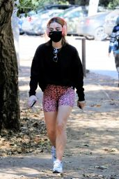 Lucy Hale - Hiking in Studio City 02/12/2021