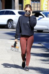Lucy Hale in Casual Outfit Out in Los Angeles 02/18/2021