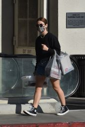 Lucy Hale - Shopping at Michaels in Studio City 02/05/2021