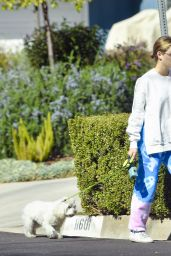 Lucy Hale - Walking Her Dog in Studio City 02/24/2021