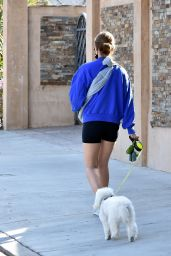 Lucy Hale - Walking Her Dogs in Studio City 02/11/2021