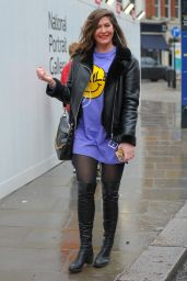 Lucy Horobin - Leaving Global Studios in London 02/15/2021