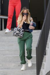 Mads Lewis - Exits the Hair Salon in LA 02/16/2021