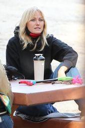 Malin Akerman at a Local Park in Los Feliz 02/17/2021