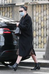 Mandy Moore - Shopping on Rodeo Drive in Beverly Hills 01/31/2021