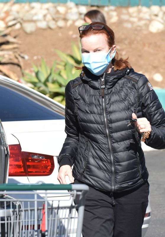 Marcia Cross in a Black Puffy Jacket - Los Angeles 02/23/2021