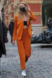 Martha Hunt - Arrive at Jason Wu Fashion Show in New York 02/14/2021