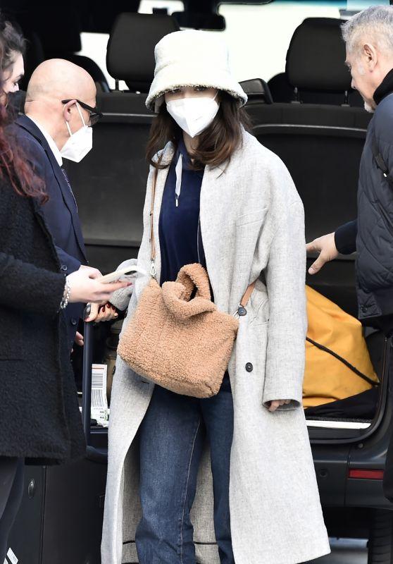Matilda De Angelis - Arrives at Her Hotel in Sanremo 02/27/2021