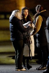 Michelle Keegan - Filming Brassic TV Show in Manchester 02/15/2021