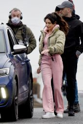 """Michelle Keegan - Filming """"Brassic"""" TV Show in Manchester 02/16/2021"""