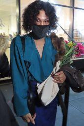 MJ Rodriguez at Jason Wu Fashion Show in New York 02/14/2021