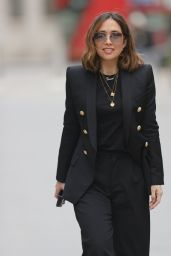 Myleene Klass in Black Blazer and Trousers - London 02/13/2021
