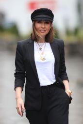 Myleene Klass Looks Chic in a Trouser Suit - London 02/17/2021