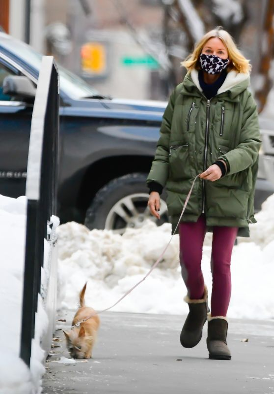 Naomi Watts Winter Street Style - New York 02/04/2021
