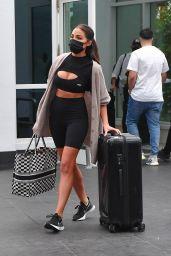 Olivia Culpo in Short Tights and Top - Miami 02/06/2021