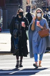 Olivia Palermo and Nicky Hilton - Out in New York 02/25/2021
