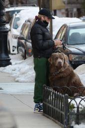 Paige Lorenze - Walking Her Dog in New York 02/06/2021