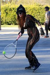 Phoebe Price at the park in Los Angeles 02/25/2021