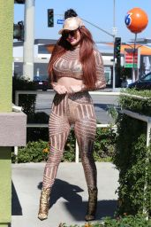 Phoebe Price - Gets Some cash at Her Local ATM in LA 02/26/2021