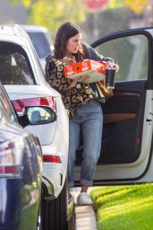 Rachel Bilson - Arriving at a Super Bowl Party in LA 02/07/2021