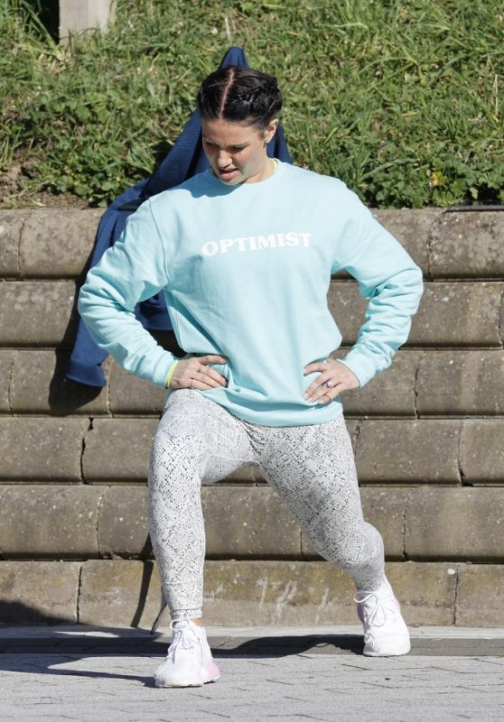 Rebekah Vardy Warming Up and Practicing - London 02/26/2021