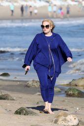 Rebel Wilson on the Beach in Santa Barbara 02/21/2021