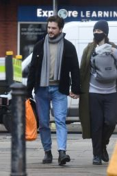 Rose Leslie and Kit Harington - Out in London 02/16/2021