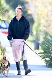 Sara Sampaio Make up Free in Casual Outfit - Walking Her Dogs in LA 02/18/2021