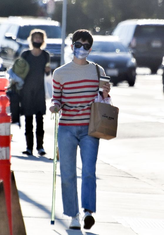 Selma Blair Looks Casual in Jeans and a Striped Sweater - Shopping at the Malibu Pier 02/26/2021