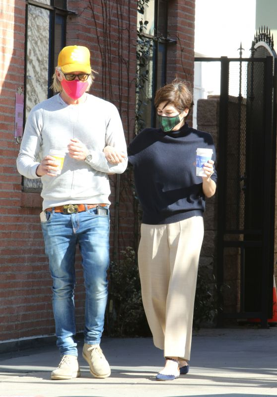 Selma Blair With Ron Carlson Out in Los Angeles 02/06/2021