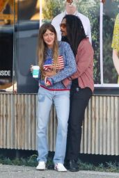 Simi Khadra at Alfred Coffee in West Hollywood 02/10/2021