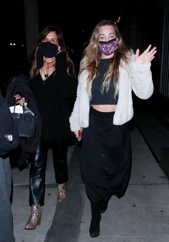 Taylor Dayne With Her Daughter Astaria Dayne at Craigs in West Hollywood 02/11/2021
