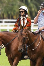 Tessa Thompson - Horse Riding in Centennial Park in Sydney 02/03/2021
