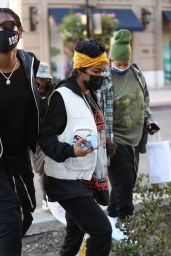 Teyana Taylor at 208 Rodeo Restaurant in Beverly Hills 02/18/2021
