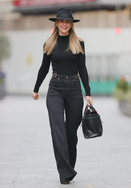 Vogue Williams in Black Flares - London 02/21/2021