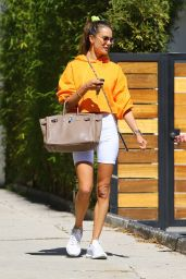 Alessandra Ambrosio in Casual Outfit in Los Angeles 03/16/2021