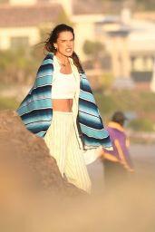 Alessandra Ambrosio Photoshoot - Beach in Malibu 03/09/2021