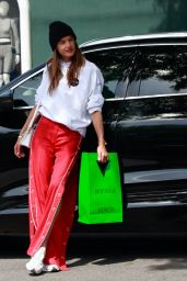 Alessandra Ambrosio Shopping at Melrose Place in West Hollywood 03/26/2021