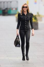 Amanda Holden in a Black Denim Jumpsuit 03/24/2021